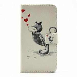 Pouzdro na mobil LG G5 - zamilovaný kocour - 1