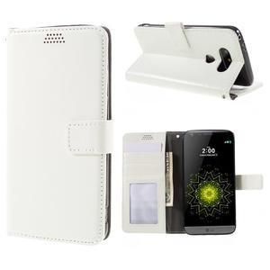 Wax peněženkové pouzdro na LG G5 - bílé - 1