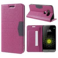 Klopové peneženko pouzdro na LG G5 - rose - 1/7