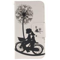 Obrázkové koženkové pouzdro na LG G5 - láska na kole - 1/7