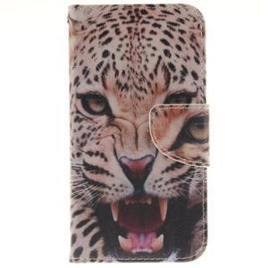 Obrázkové koženkové pouzdro na LG G5 - leopard - 1