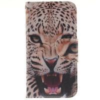 Obrázkové koženkové pouzdro na LG G5 - leopard - 1/7