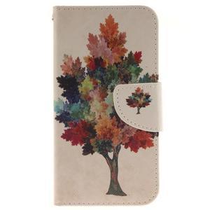 Obrázkové koženkové pouzdro na LG G5 - barevný strom - 1