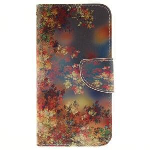Obrázkové koženkové pouzdro na LG G5 - malované listí - 1