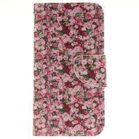 Obrázkové koženkové pouzdro na LG G5 - růže - 1/7