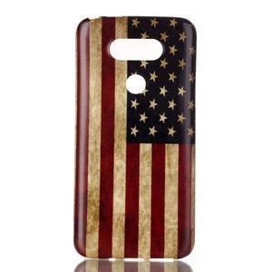 Gelový obal na mobil LG G5 - US vlajka - 1