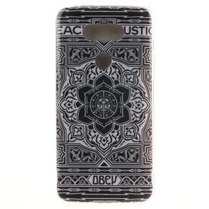 Softy gelový obal na mobil LG G5 - retro květina - 1