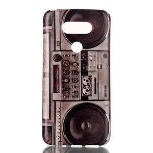 Gelový obal na mobil LG G5 - retro radio - 1