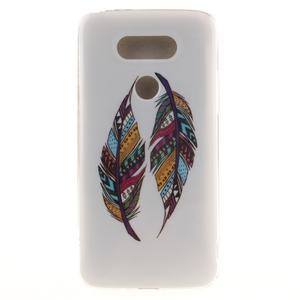 Softy gelový obal na mobil LG G5 - peříčka - 1
