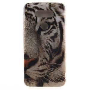 Softy gelový obal na mobil LG G5 - bílý tygr - 1