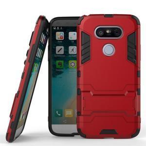 Odolný kryt na mobil LG G5 - červený - 1