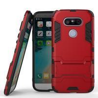 Odolný kryt na mobil LG G5 - červený - 1/3