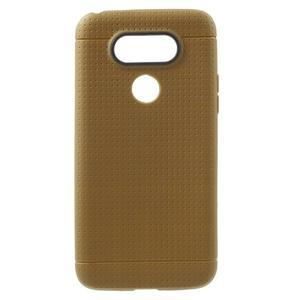 Rubby gelový kryt na LG G5 - hnědý - 1