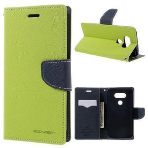 Goos stylové PU kožené pouzdro na LG G5 - zelené - 1