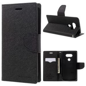 Goos stylové PU kožené pouzdro na LG G5 - černé - 1