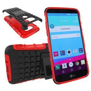 Outdoor odolný obal na mobil LG G5 - červený - 1