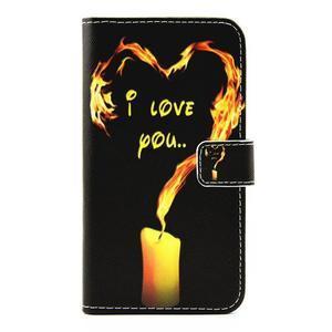 Pouzdro na mobil LG G5 - ohnivá láska - 1