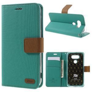Diary PU kožené pouzdro na mobil LG G5 - zelené - 1