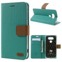 Diary PU kožené pouzdro na mobil LG G5 - zelené - 1/7