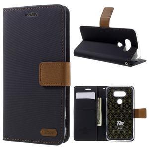 Diary PU kožené pouzdro na mobil LG G5 - černé - 1