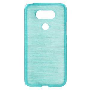 Hladký gelový obal s broušeným vzorem na LG G5 - tyrkysový - 1