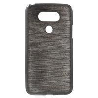 Hladký gelový obal s broušeným vzorem na LG G5 - černý - 1/6