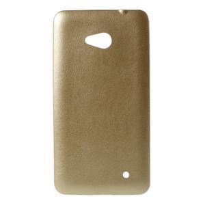 Gelový kryt s imitací kůže pro Microsoft Lumia 640 - champagne - 1