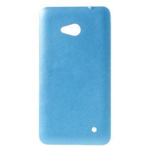 Gelový kryt s imitací kůže pro Microsoft Lumia 640 - modrý - 1