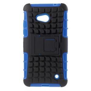 Vysoce odolný kryt se stojánkem na Microsoft Lumia 640 -  modrý - 1