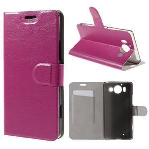 Horse PU kožené pouzdro na mobil Microsoft Lumia 950 - rose - 1