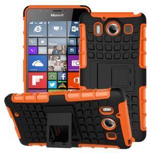 Outdoor odolný kryt na mobil Microsoft Lumia 950 - oranžový - 1