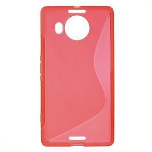 S-line gelový obal na mobil Microsoft Lumia 950 XL - červený - 1