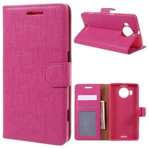 Cloth PU kožené pouzdro na mobil Microsoft Lumia 950 XL - rose - 1