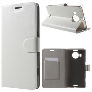 Horse peněženkové pouzdro na Microsoft Lumia 950 XL - bílé - 1
