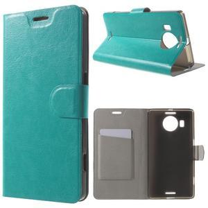 Horse peněženkové pouzdro na Microsoft Lumia 950 XL - modré - 1