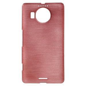 Brushed gelový obal na mobil Microsoft Lumia 950 XL - růžový - 1