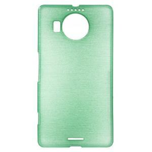 Brushed gelový obal na mobil Microsoft Lumia 950 XL - cyan - 1