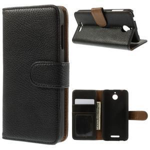 Folio PU kožené pouzdro na mobil HTC Desire 510 - černé - 1