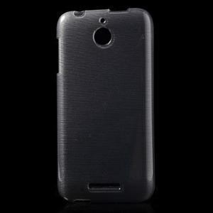Brushed hladký gelový obal na HTC Desire 510 - šedý - 1
