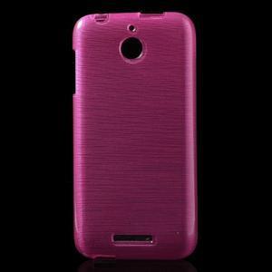 Brushed hladký gelový obal na HTC Desire 510 - rose - 1