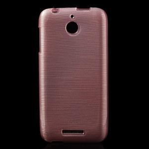 Brushed hladký gelový obal na HTC Desire 510 - růžový - 1