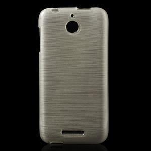 Brushed hladký gelový obal na HTC Desire 510 - zlatý - 1