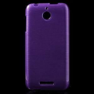 Brushed hladký gelový obal na HTC Desire 510 - fialový - 1