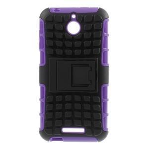 Outdoor odolný kryt na mobil HTC Desire 510 - fialový - 1