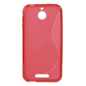 S-line gelový obal na mobil HTC Desire 510 - červený - 1