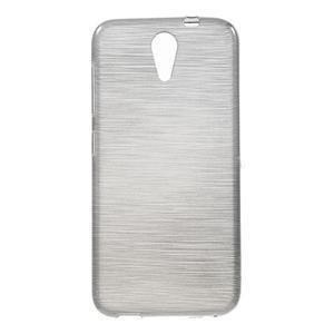 Brushed hladký gelový obal na HTC Desire 620 - šedý - 1