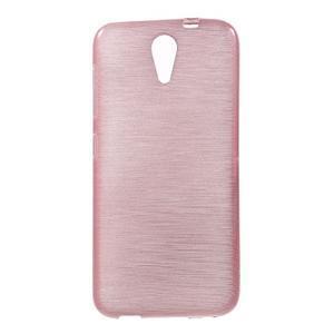 Brushed hladký gelový obal na HTC Desire 620 - růžový - 1
