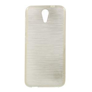 Brushed hladký gelový obal na HTC Desire 620 - zlatý - 1