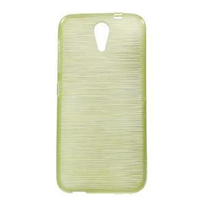 Brushed hladký gelový obal na HTC Desire 620 - zelený - 1