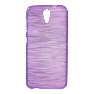 Brushed hladký gelový obal na HTC Desire 620 - fialový - 1